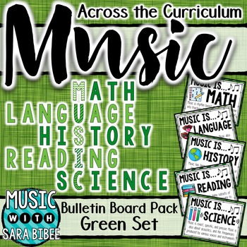 Music Across the Curriculum Posters- School Colors: Green
