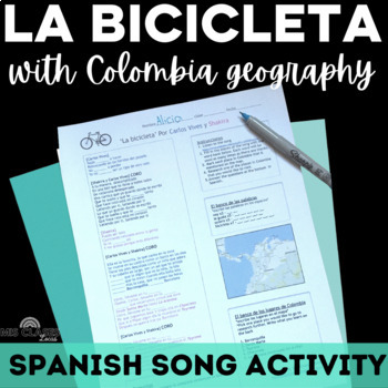 Music Activity: La Bicicleta (with geography of Colombia)