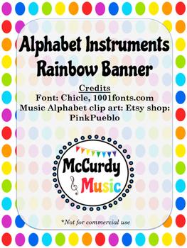 Music Alphabet Banner Set