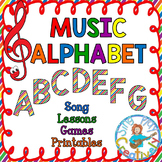Music Class Alphabet Lesson Unit: Song, Games, Actitivitie