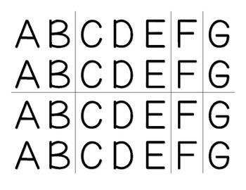 Music Alphabet Letters