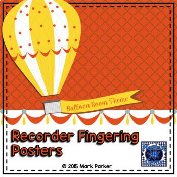Music Balloon Theme Recorder Fingering