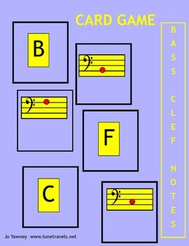 Music: Bass Clef Card Game