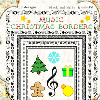 Music Borders: Christmas Theme.