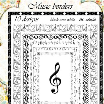 Music Borders (set 2)