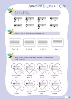 Music Bumblebees Aural & Theory - Music Concepts - Notes o