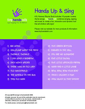 MUSIC CD - Nursery Rhymes for ASL Songs