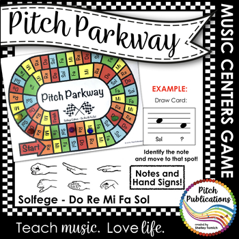 Music Centers: Pitch Parkway - Solfege Do Re Mi Fa Sol Gam