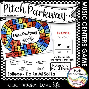 Music Centers: Pitch Parkway - Solfege Do Re Mi Sol La Gam