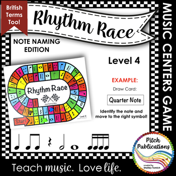 Music Centers: Rhythm Race Note Naming Edition Level 4 - R