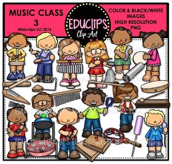 Music Class 3 Clip Art Bundle