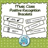 Music Class Positive Recognition Bracelets