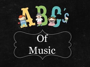 Abc's of Music Display