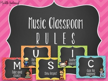 Music Classroom Rules - Chevron