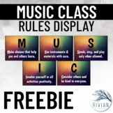 Music Classroom Rules Display