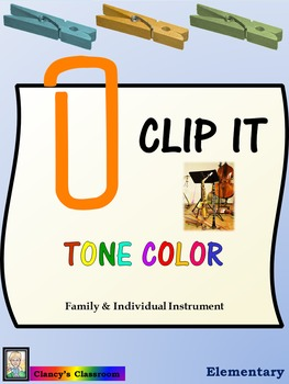 Music Clip Cards: Tone Color: Instruments (K-2)