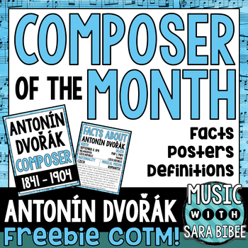 FREE! Music Composer of the Month: Antonín Dvořák