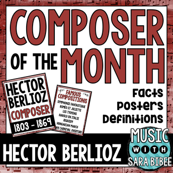 Music Composer of the Month: Hector Berlioz Bulletin Board Pack
