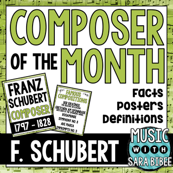 Music Composer of the Month: Schubert- Bulletin Board Pack