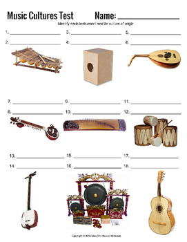 Music Cultures: Assessment