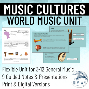 Music Cultures Unit BUNDLE