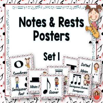 Music Decor: Notes and Rests Set 1: British Termininology
