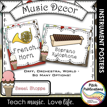 Music Decor - SWEET SHOPPE - Instrument Posters - Orchestr