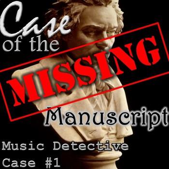 "Music Detective #1 ""Case of the Missing Manuscript"" Treble"