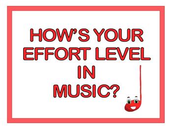 Music Effort Rubric Signs