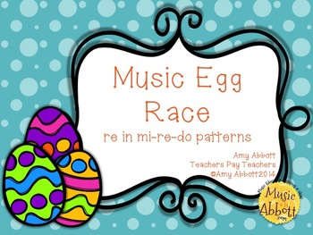 Music Egg Race Game: re version, in mi-re-do patterns