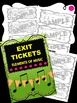 Music Exit Tickets BUNDLE Package!  Note Names, Elements o