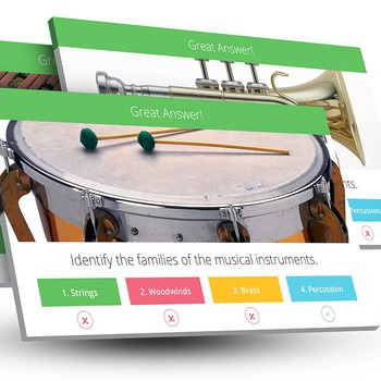 Music: Families of the Instrument Trivia [Interactive Powe