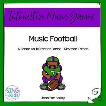 Music Football: A Same/Different Rhythm Game