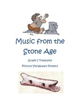 Music From the Stone Age Picture Vocabulary Posters for Gr