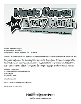 Music Games for Every Month - March