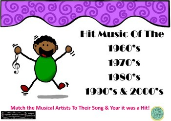 Music Group Task Hit Music 60s 70s 80s 90s 2000s Matching