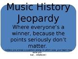 Music History Jeopardy