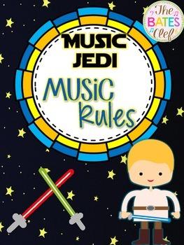 Music Jedi Class Rules Room Decor