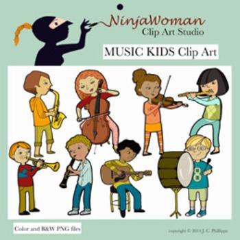 Music Kids Clip Art