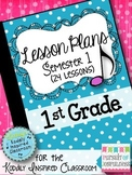 Music Lesson Plans - First Grade {24 Lessons}
