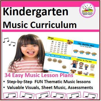 Music Lesson Plans - Kindergarten {34 Lessons}