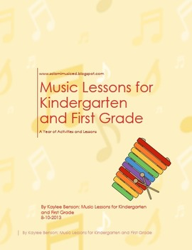 Music Lessons: Kindergarten and First Grade