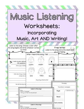 Music Listening Worksheets by Countless Smart Cookies | Teachers ...