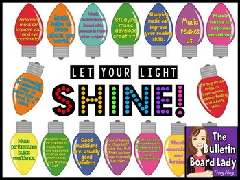 Let Your Light Shine Music Bulletin Board