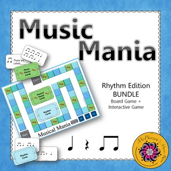 Music Mania Rhythm Edition Eighth Notes BUNDLE {Board Game
