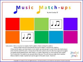 Music Match-ups - Rhythm I (Keetman's Building Bricks) - C