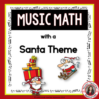Music Math Printables with a Santa Theme
