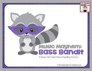 Music Mayhem: Bass Bandit - A Bass Clef Note Name/Spelling Game