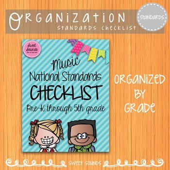 Music National Standards I Can Checklist {Bright}