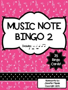 Music Note Bingo 2:  Whole Note, Whole Rest